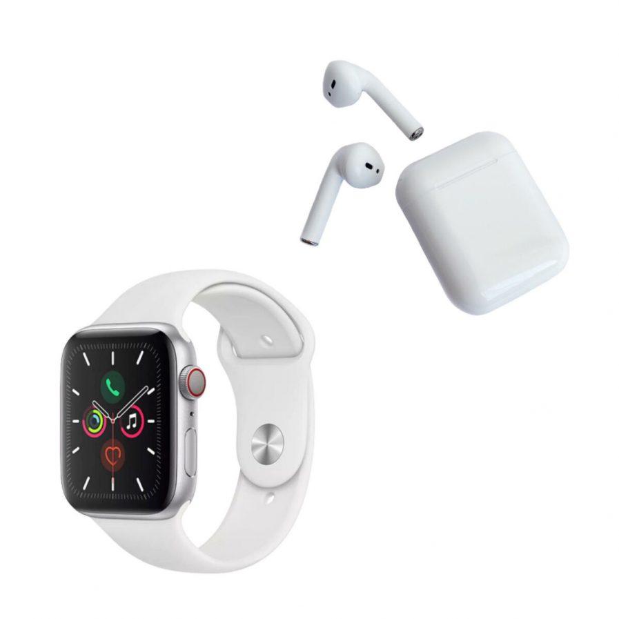 Pack Smartwatch F10 blanco+Audífonos
