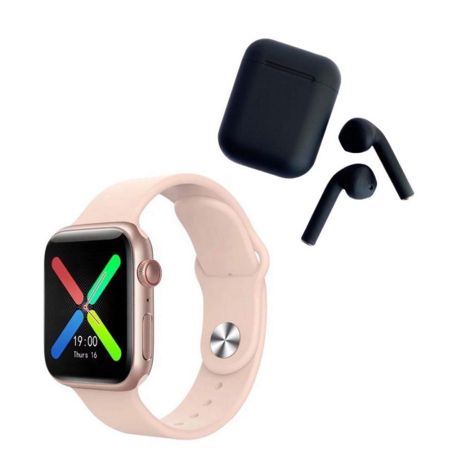 Pack Smartwatch T500 Plus Rosado+Audífonos