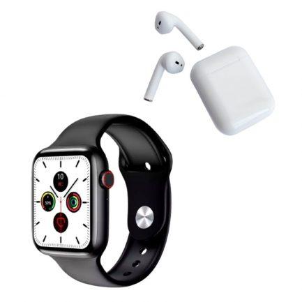 Pack Smartwatch W26 Plus Negro y Audífonos Inpods 12